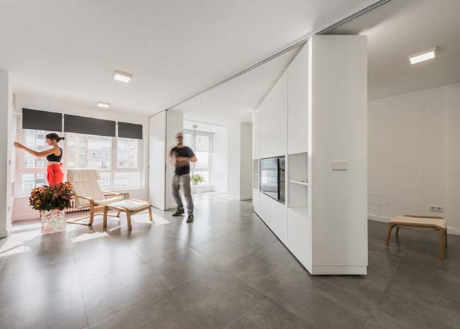Modern apartment with rotating walls by PKMN Architectu