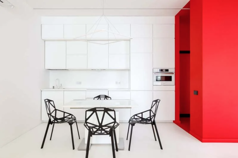 Colorful Minimalist Apartment Inspired By Mondrian's Artworks .
