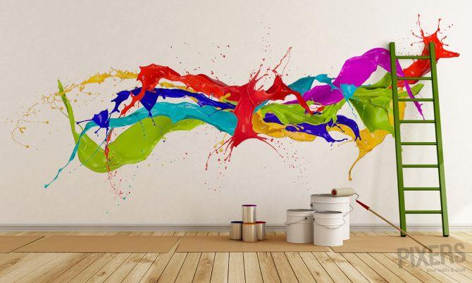 Color Splash - inspiracja fototapeta, galeria wnętrz • PIXERS.pl .