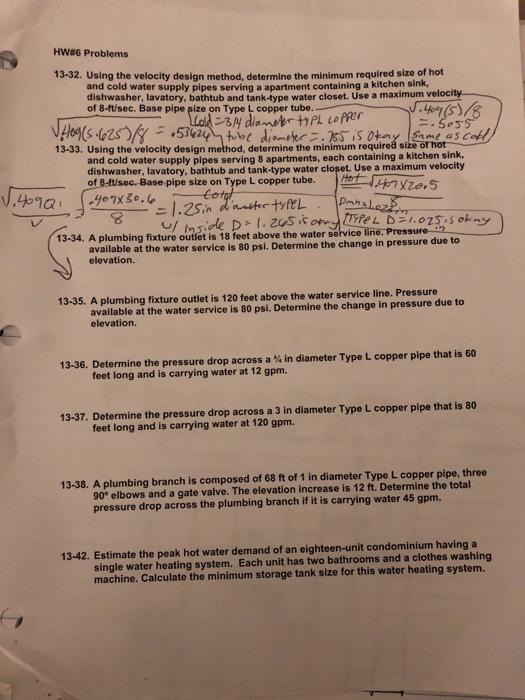 HW#6 Problems 13-32. Using The Velocity Design Met... | Chegg.c