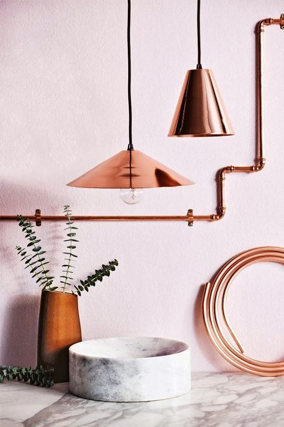 Pin on Blush Pink and Copper Adorable Decor Ide