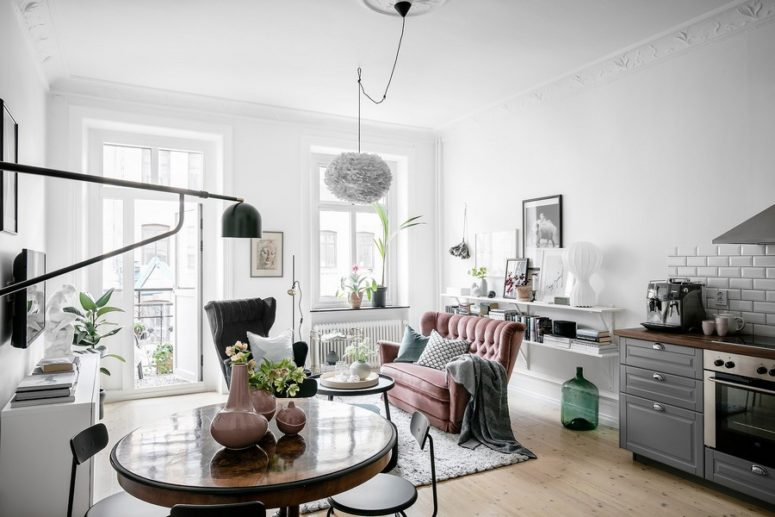 Cozy Scandinavian Apartment With Historic Elements - DigsDi