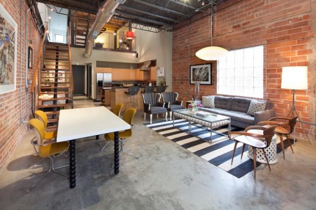 18 Fantastic Apartment Design Ideas in Industrial Sty
