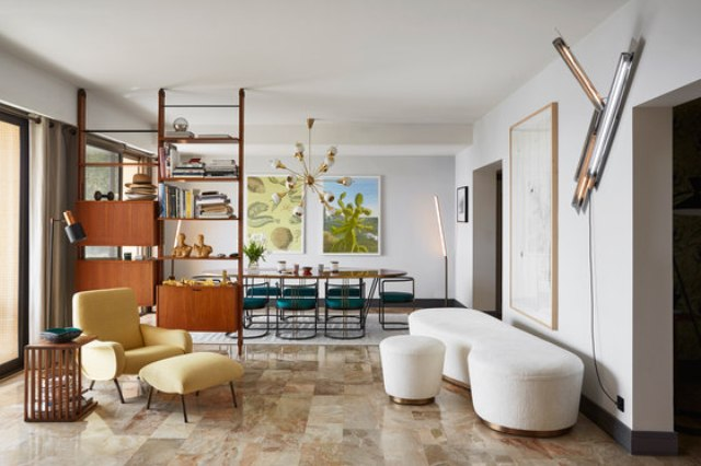 Mid-Century Modern Apartment With Riviera Touches - DigsDi