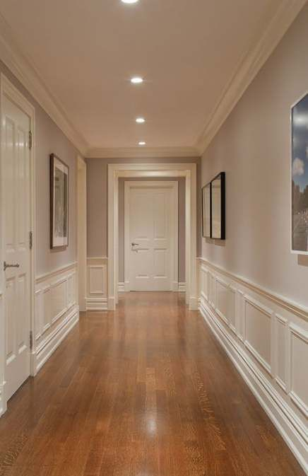 63+ Ideas For Wood Paneling Hallway Wainscoting #wood | Modern .