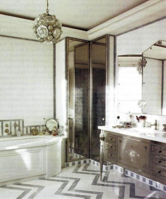 Pin by Annette Cole-Baker on Art Deco Bathroom ideas | Bathroom .