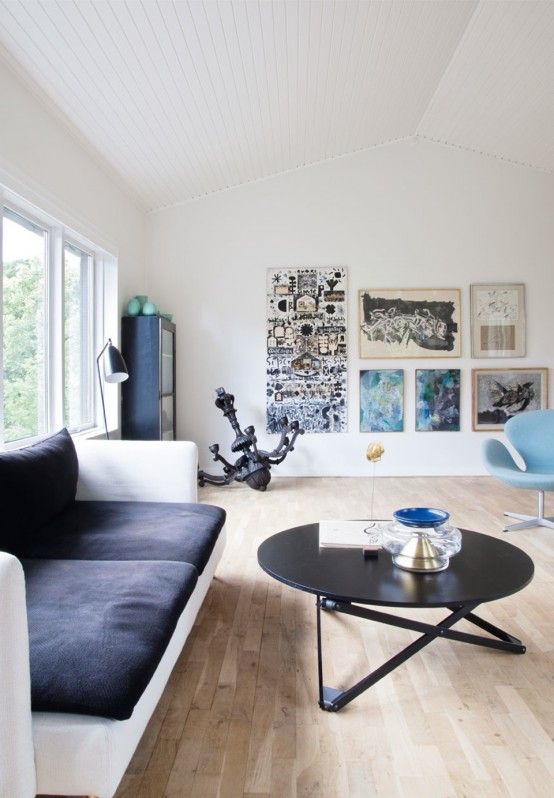 Art Full Modern Home With Refreshing And Simple Decor - DigsDi