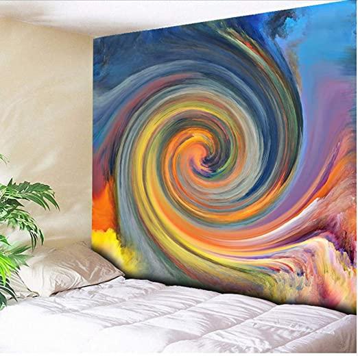 Amazon.com: smydp Cyclone Watercolor Wall Decor Hanging Tapestry .