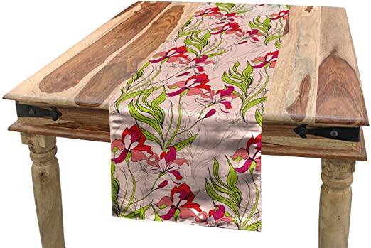 Amazon.com: Lunarable Vintage Modern Table Runner, Classical .