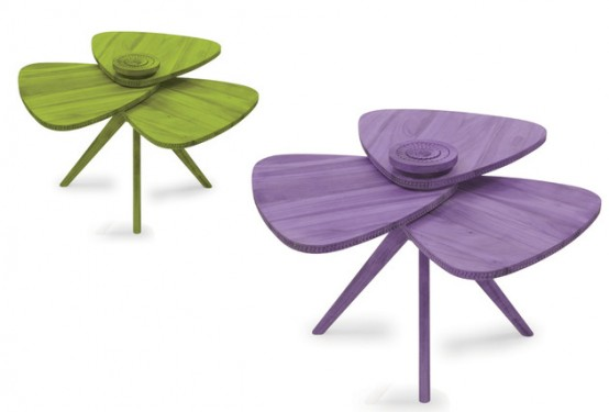 Art Of The Detail: Modern Petal Table With Unique Design - DigsDi