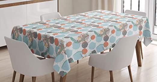 Amazon.com: Ambesonne Abstract Tablecloth, Modern Pastel Digital .