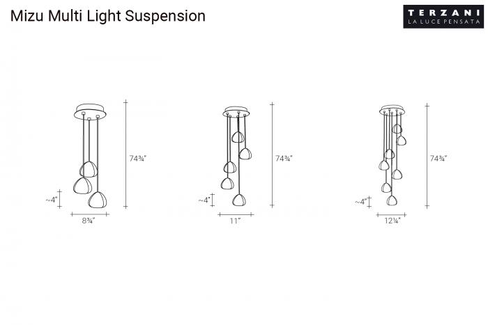 Mizu Suspension Light by Terzani | room service 360