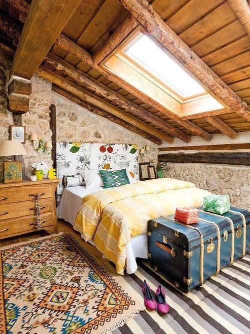 35 Beautiful Eclectic Bedroom Designs Inspiration   Rustic bedroom .