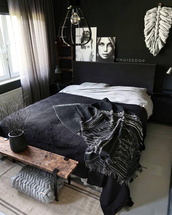 35 Inspiring Black and White Master Bedroom Color Ideas | White .