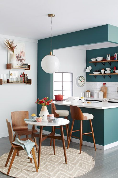 How to Use Bold Paint Colors in Your Living Room | Kitchen design .
