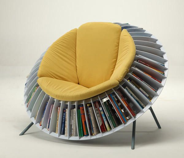 15 awesome creative chair designs | Bookshelf chair, Cool chairs .