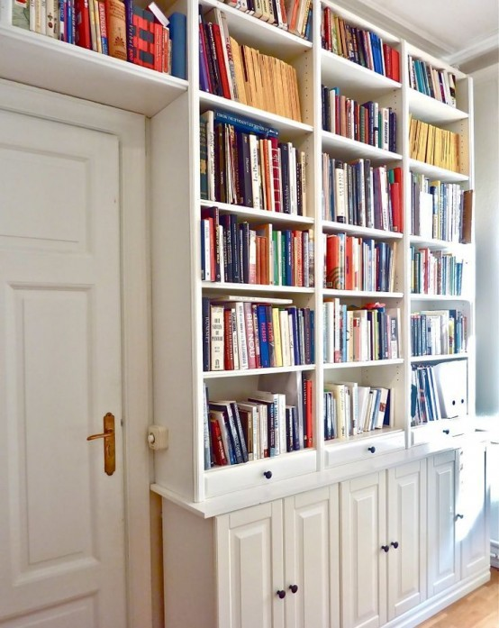 45 Awesome IKEA Billy Bookcases Ideas For Your Home - DigsDi