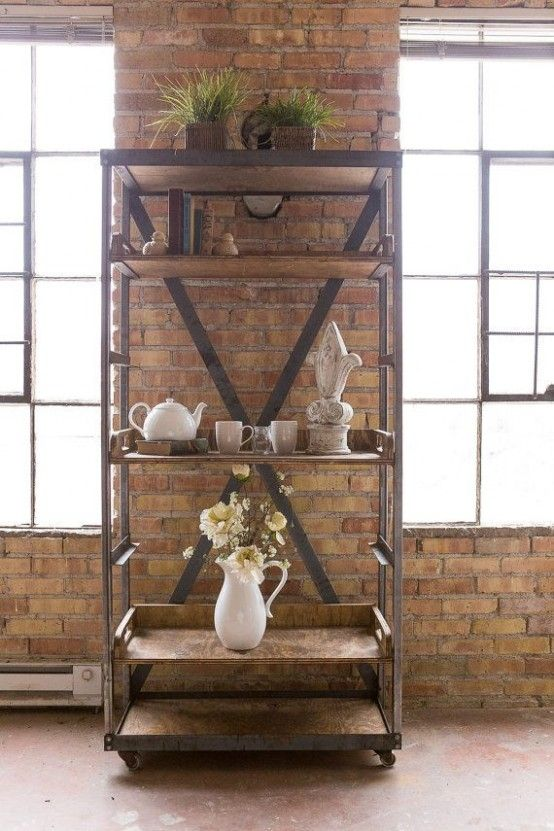 30 Awesome Industrial Shelves And Racks For Any Space (With images .