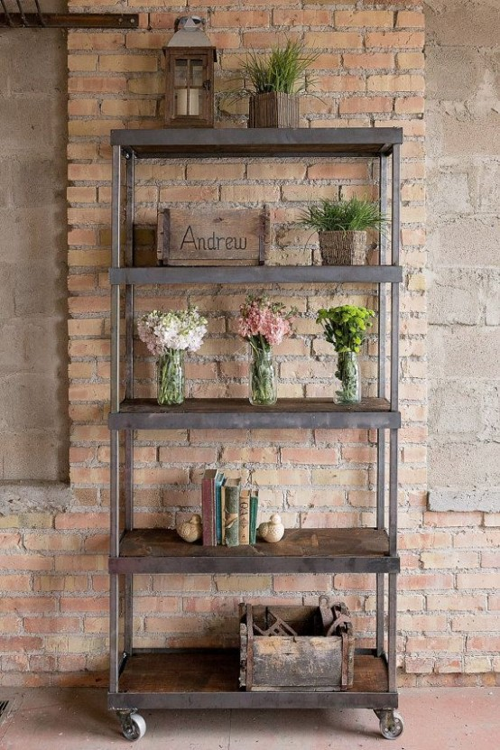 30 Awesome Industrial Shelves And Racks For Any Space - DigsDi
