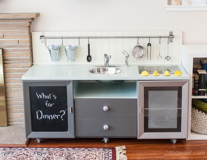 30 Awesome DIY Play Kitchens You Can Make From Old Furnitu