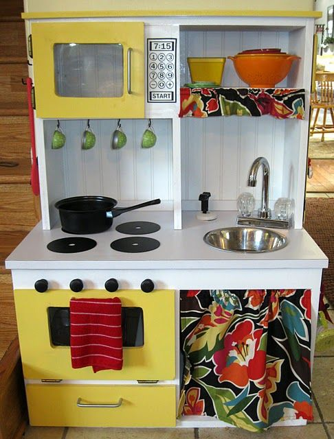 Nap Time Crafters: Toddler Dream Kitchen!   Diy play kitchen, Diy .