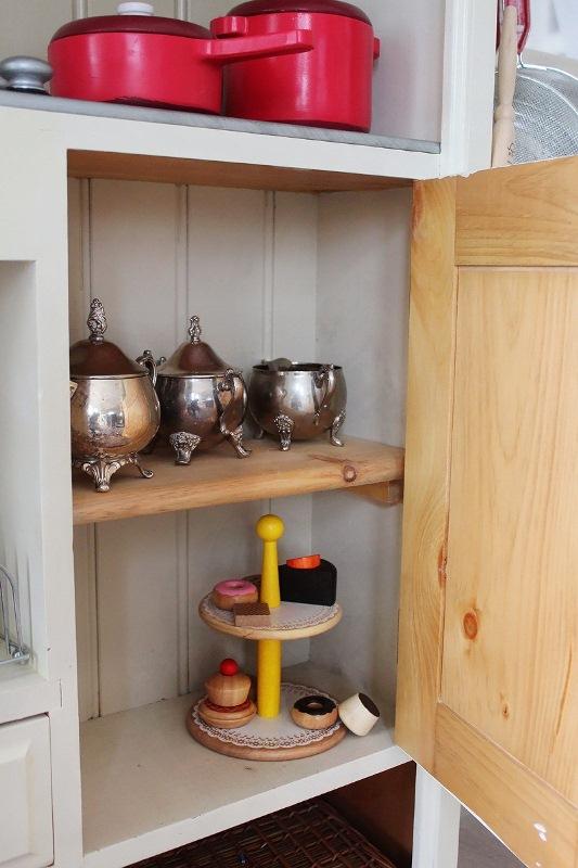 Awesome Kid's Kitchen Design Of A Vintage Dresser - DigsDi
