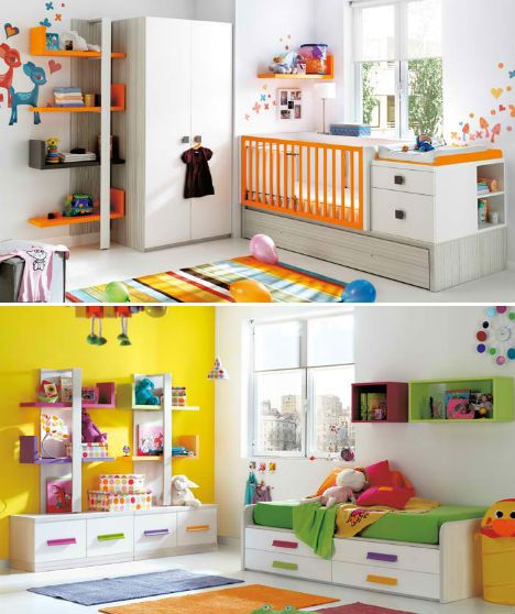Compact & Colorful Kids Room Design Ideas by KIBUC | Colorful kids .