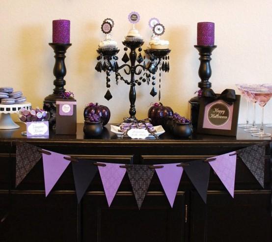 57 Awesome Purple Halloween Décor Ideas - DigsDi