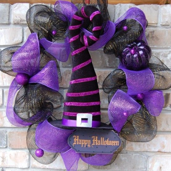 Awesome Purple Halloween Decor Ideas (With images)   Purple .