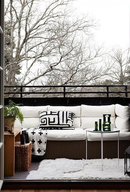 33 Awesome Scandinavian Balcony Designs | Terrassengestaltung .