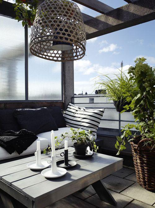 33 Awesome Scandinavian Balcony Designs | Small balcony design .