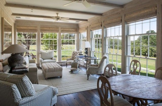 Image result for farmhouse sunroom | Sunroom decorating, Sunroom .