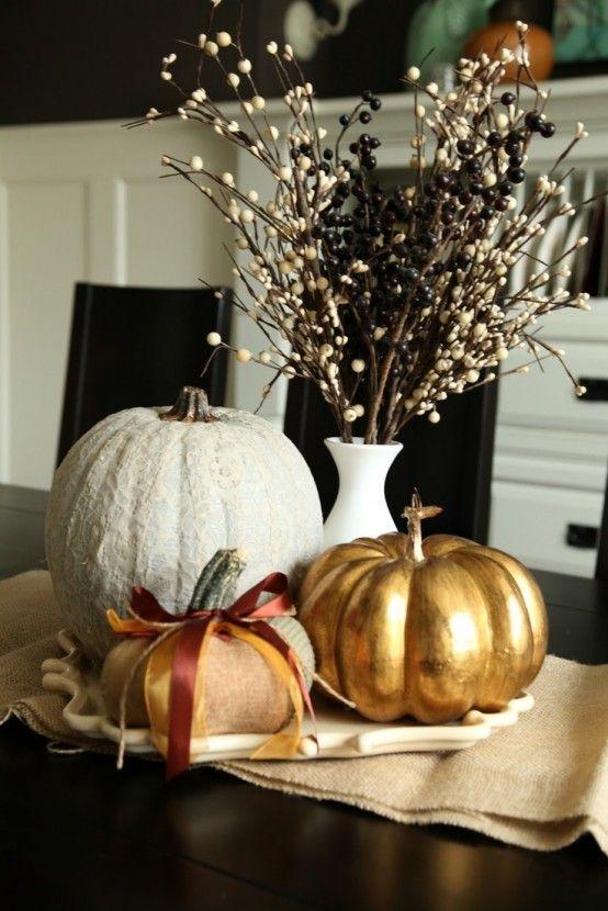 40 Amazing Fall Pumpkin Centerpieces   DigsDigs   Fall pumpkin .