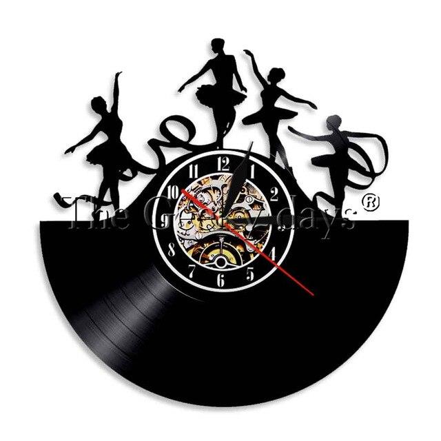 1Piece Dance Vinyl Record Wall Art Night Lamp Ballet Dancers .