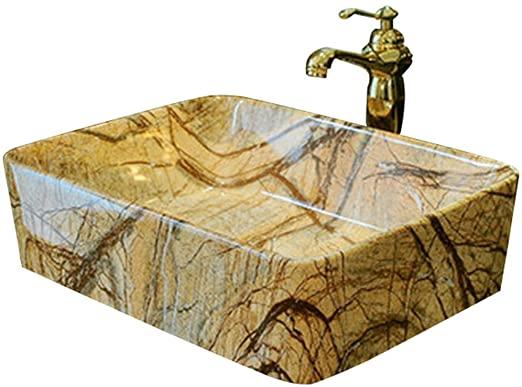 Amazon.com: Bathroom Sinks Square Above Counter Basin Bathroom .