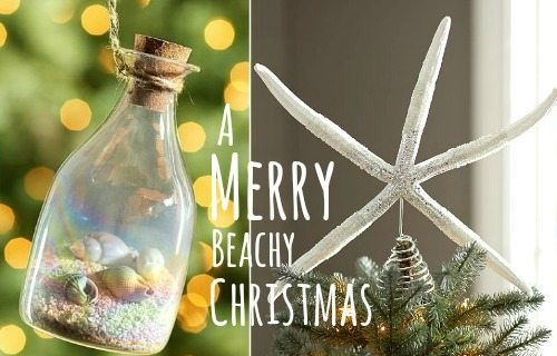 Beach Christmas Decorations & Ideas Inspired by Sea, Sand & Shells .
