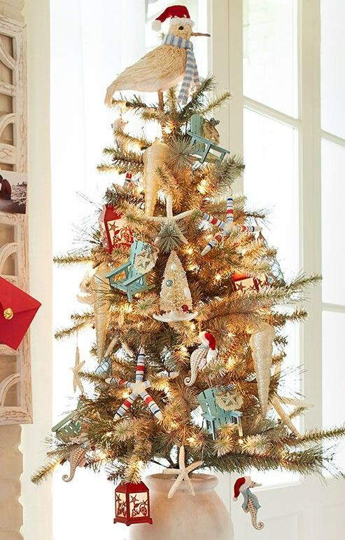 Beach Christmas Tree Decorations at Pier 1   Coastal christmas .