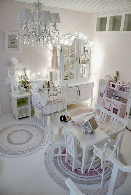 40 Beautiful And Cute Shabby Chic Kids Room Designs - DigsDigs .