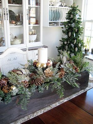 A Comfy Little Place of My Own | Christmas table decorations .