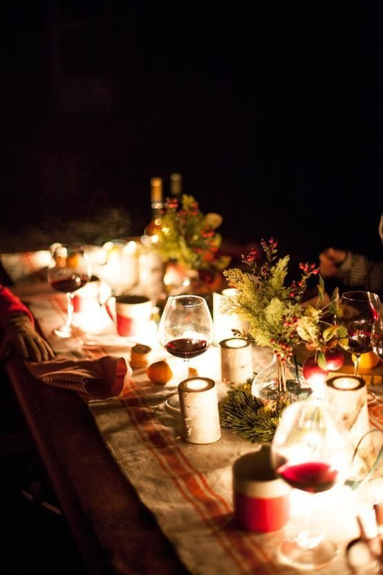Most Beautiful Outdoor Christmas Table Setting Ideas Christmas .