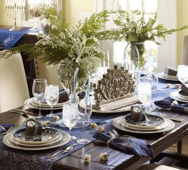 Holiday Decor Ideas: 3 Hanukkah Table Settings — Irwin Weiner .