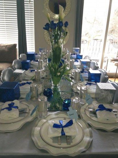 Another Beautiful #Hanukka Table Setting by A Jewish Hostess .