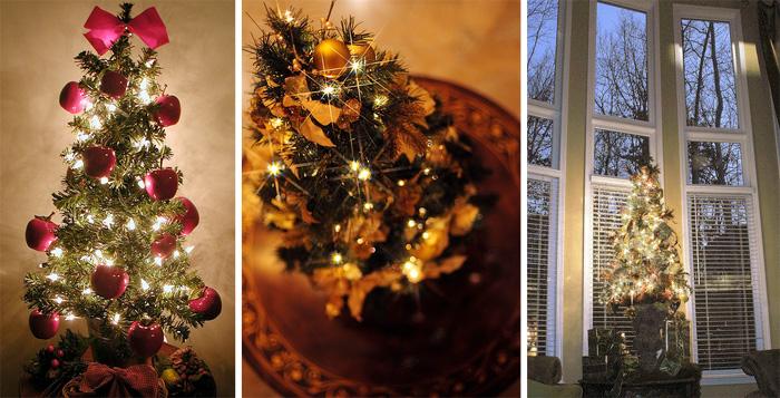 41 Beautiful Tabletop Christmas Trees - DigsDi