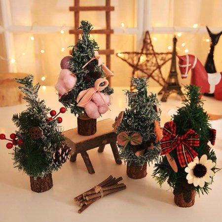 Zerone 26cm Mini Christmas Tree Small Christmas Desk Tabletop Tree .