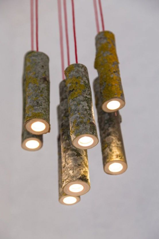 Bio Mass Lights Made From Real Tree Branches   Ветви декор .