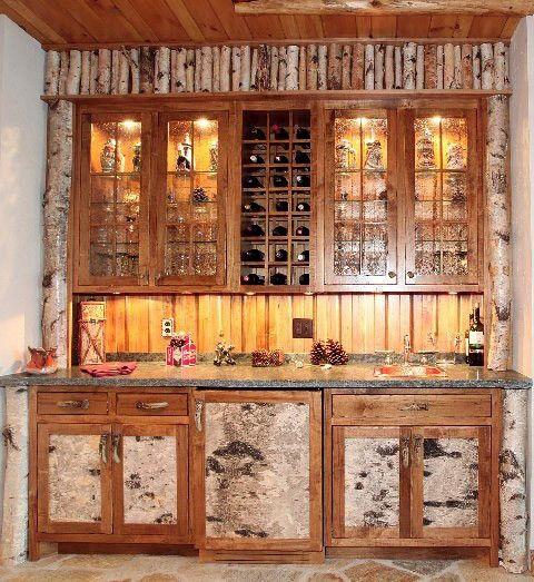 adirondack birch bark - Google Search | Log home interiors, Rustic .