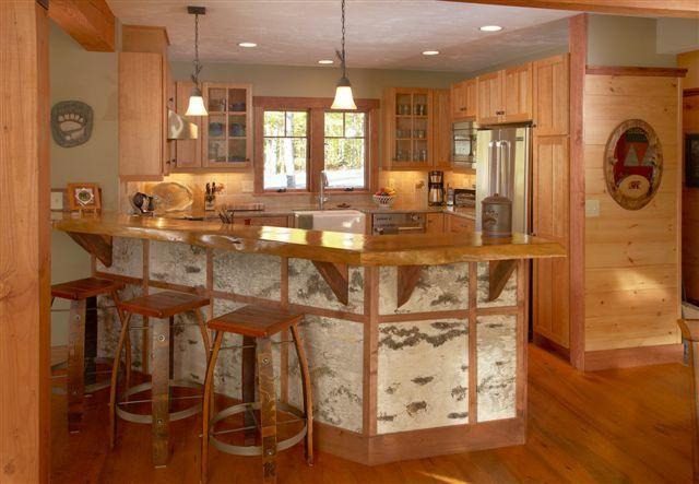 Birch Bark accent finish Modern Adirondack style homes in 2020 .