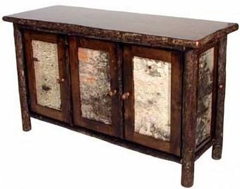 Rustic Hickory Birch Bark Cabinet | Vienna Woodwor