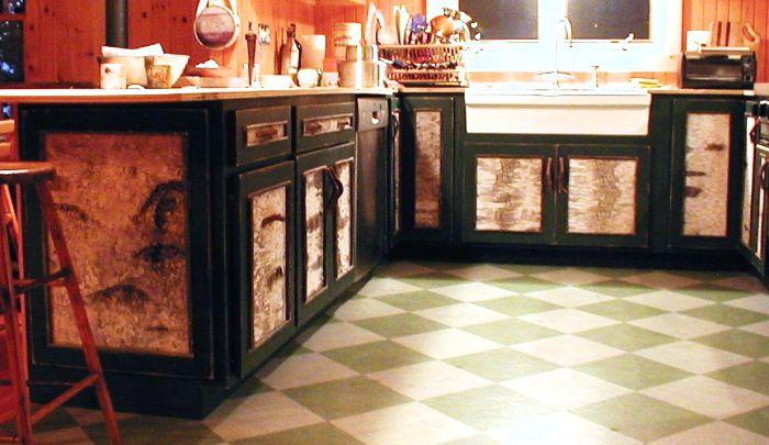 rustic kitchen cabinets, birch bark furniture | Rustic kitchen .
