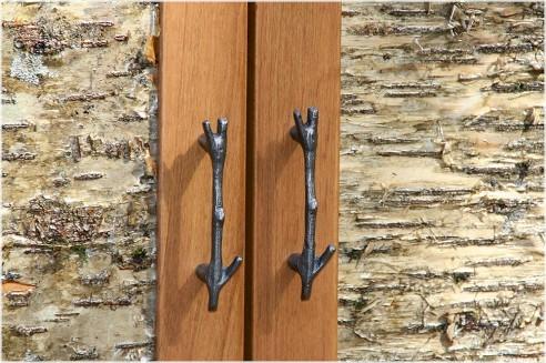 RUSTIC BIRCH BARK CABINET DOORS - The Log Furniture Sto